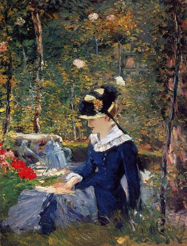 Manet-YoungWomanintheGarden