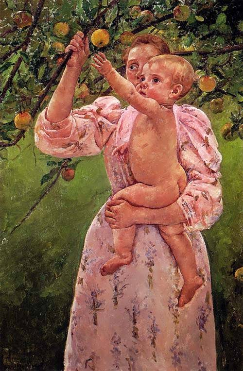 MaryCassatt-BabyReachingforanAppleakaChildPickingFruit1