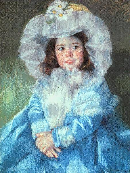MaryCassatt-MargotinBlue