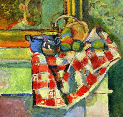 Matisse-StillLifeCheckedTablecloth