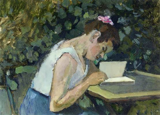 Matisse-WomanReadinginaGarden1