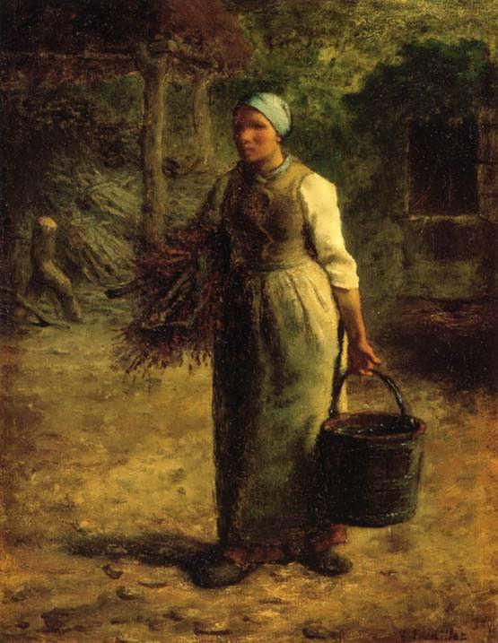 Millet-WomanCarryingFirewoodandaPail