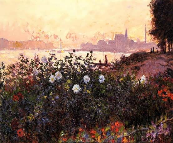 Monet-ArgenteuilFlowersbytheRiverbank
