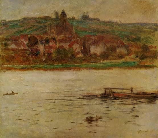 Monet-BargeontheSeineatVertheuil