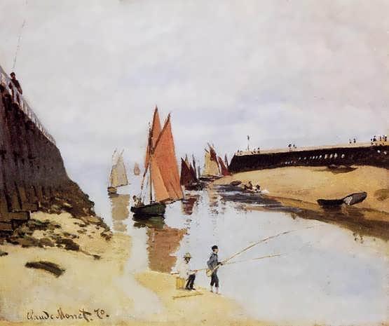 Monet-EntrancetothePortofTrouville