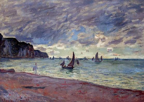 Monet-FishingBoatsbytheBeachandtheCliffsofPourville