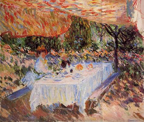 Monet-LuncheonundertheCanopy