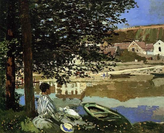 Monet-RiverSceneatBennecourt