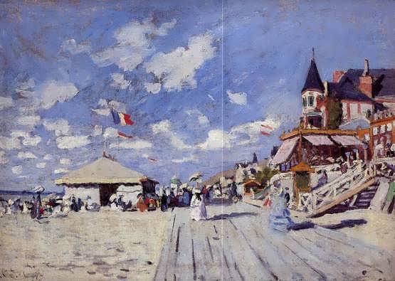 Monet-TheBoardwalkontheBeachatTrouville