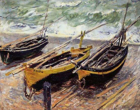 Monet-ThreeFishingBoats