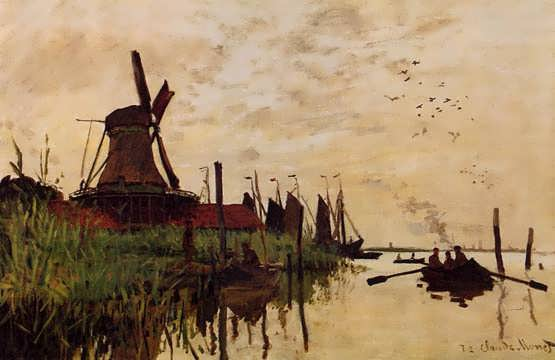 Monet-WindmillatZaandam