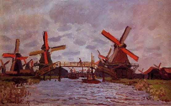 Monet-WindmillsnearZaandam