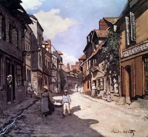 Monet_Rue_De_La_Bavolle_Honfleur_1864