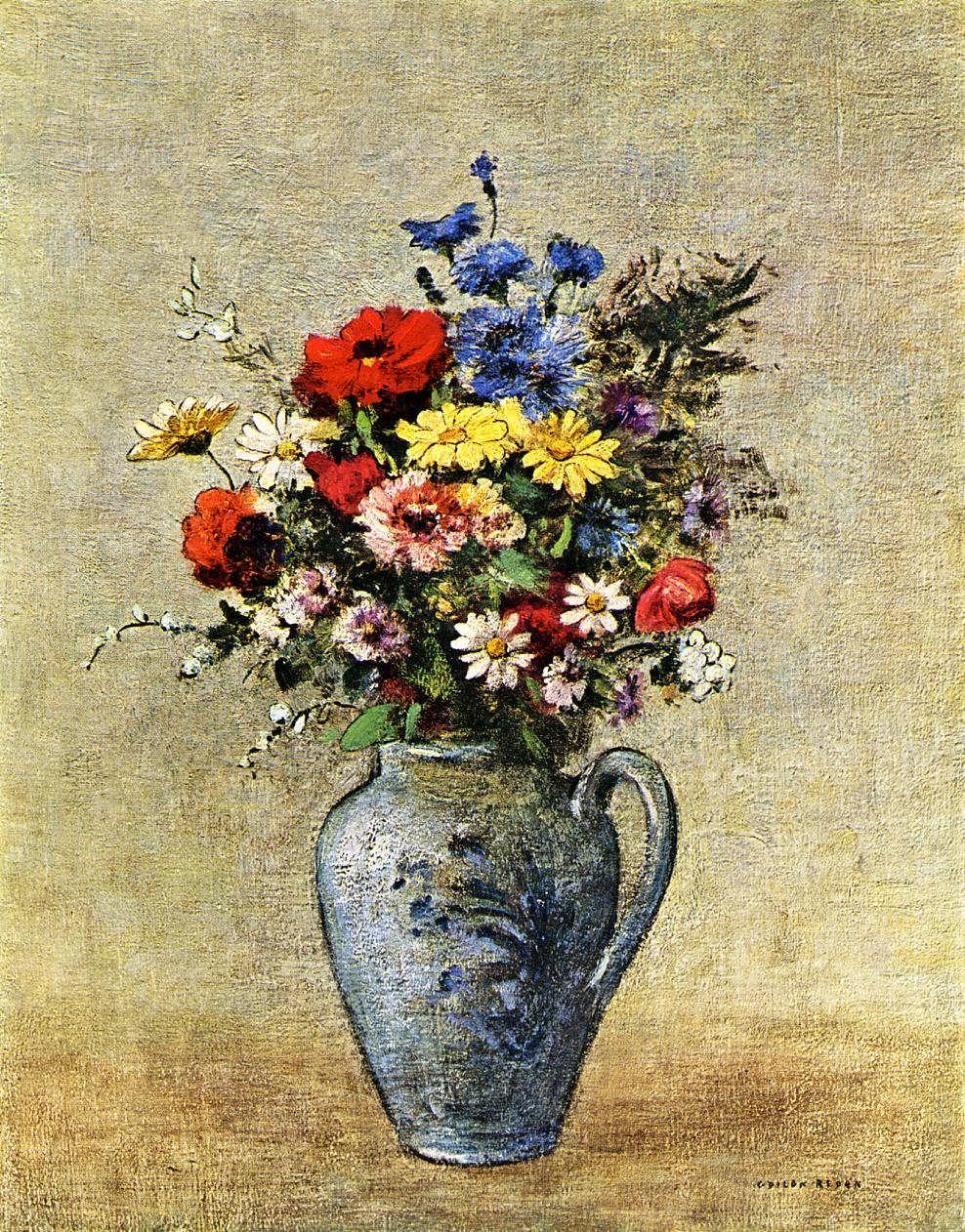 OdilonRedon-FlowersinaVasewithoneHandle1