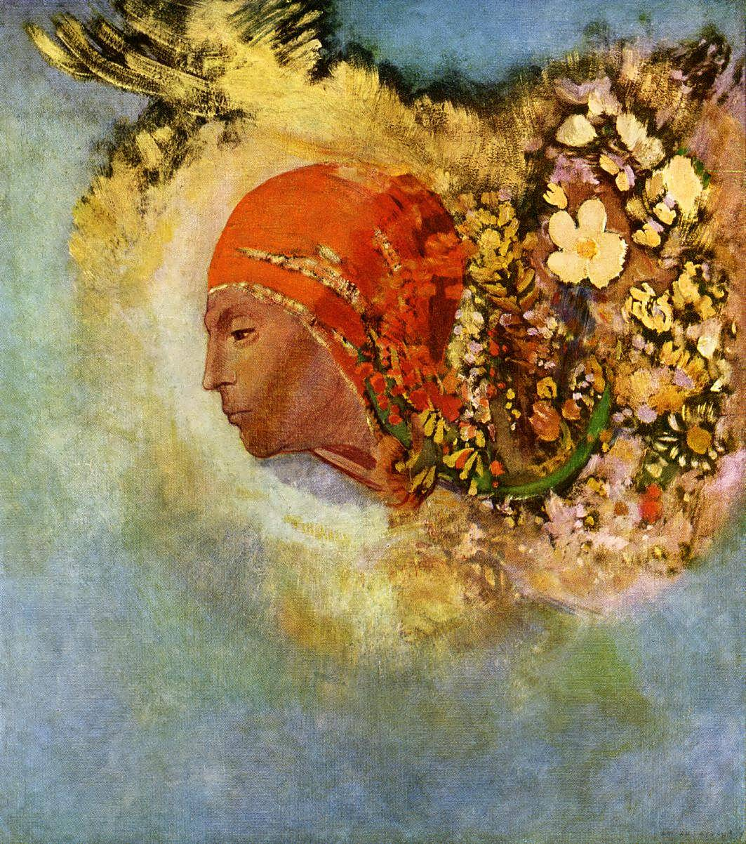 OdilonRedon-HeadwithFlowers2