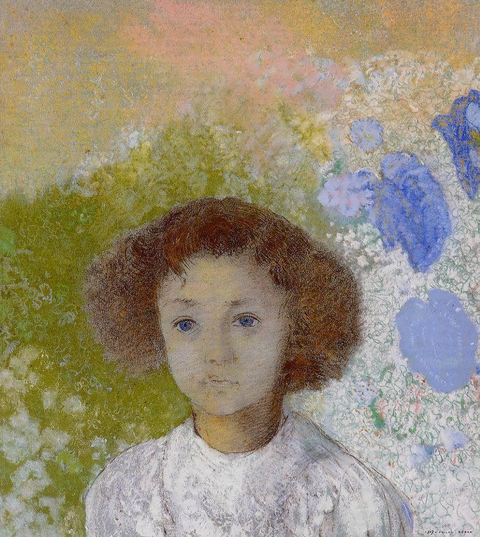 OdilonRedon-PortraitofGenevievedeGonetasaChild1