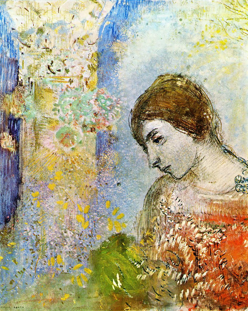 OdilonRedon-WomanwithPillarofFlowers1