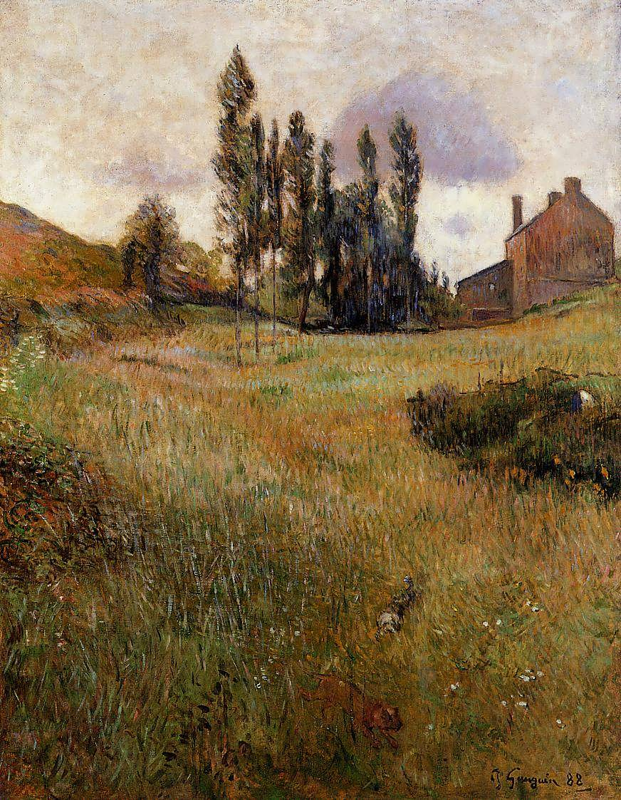 PaulGauguin-DogsRunningthroughaField