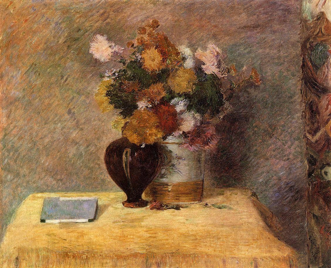 PaulGauguin-FlowersandJapaneseBook