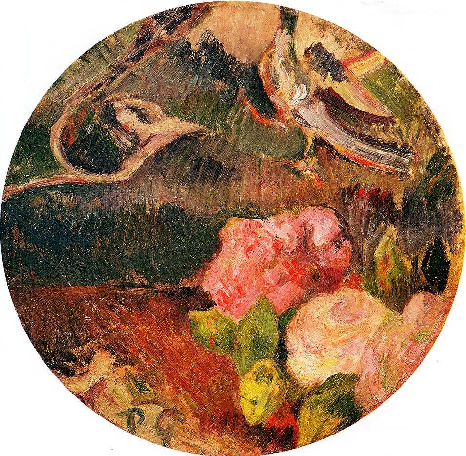 PaulGauguin-FlowersandaBird