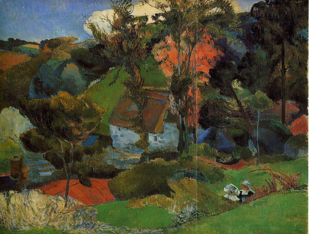 PaulGauguin-TheAvenRunningthroughPont-Aven