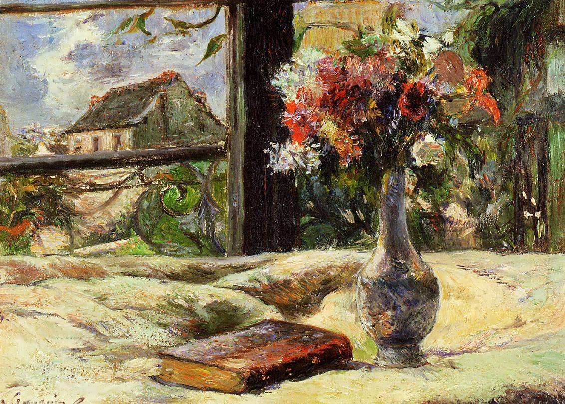 PaulGauguin-VaseofFlowersandWindow