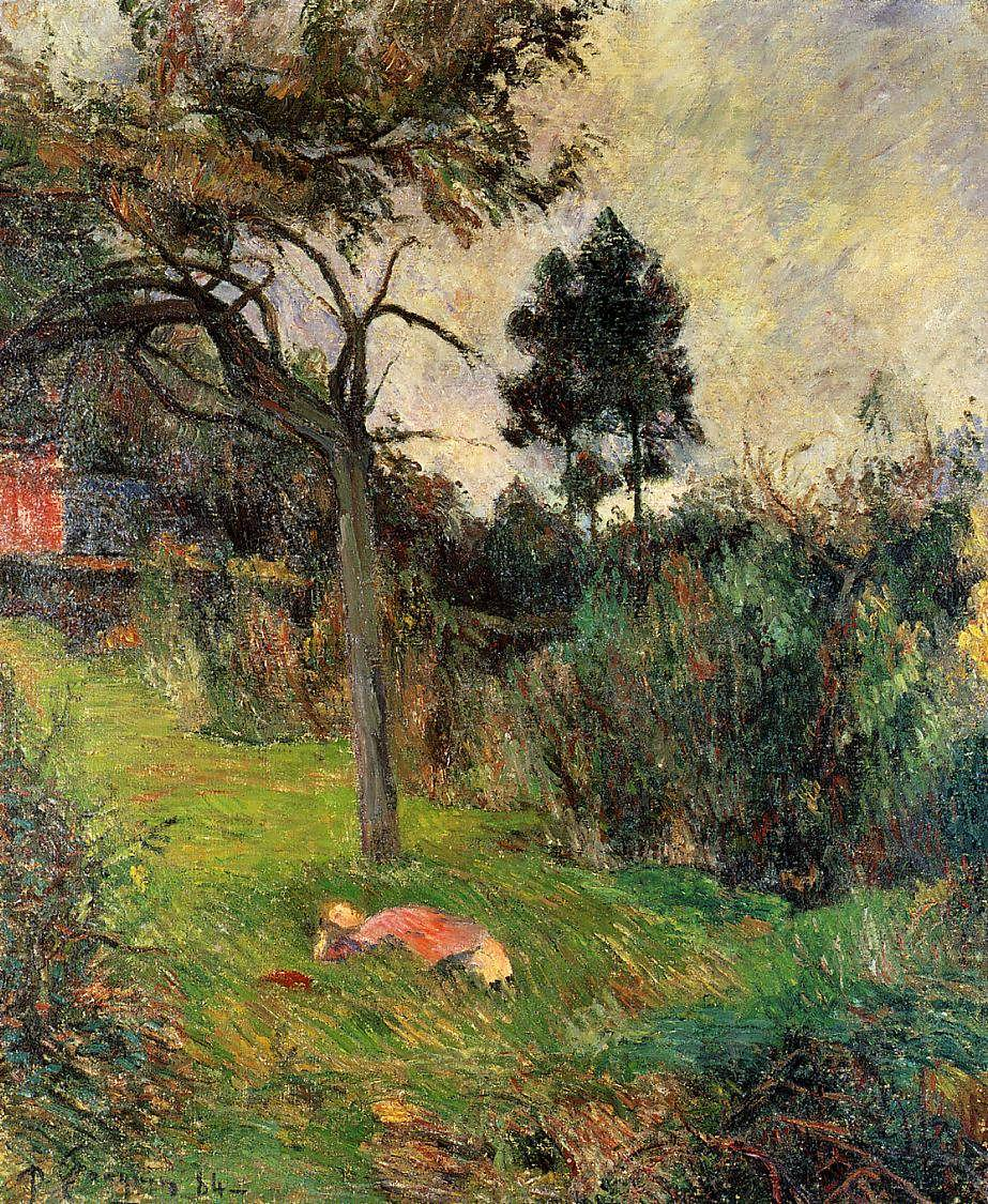 PaulGauguin-YoungWomanLyingintheGrass