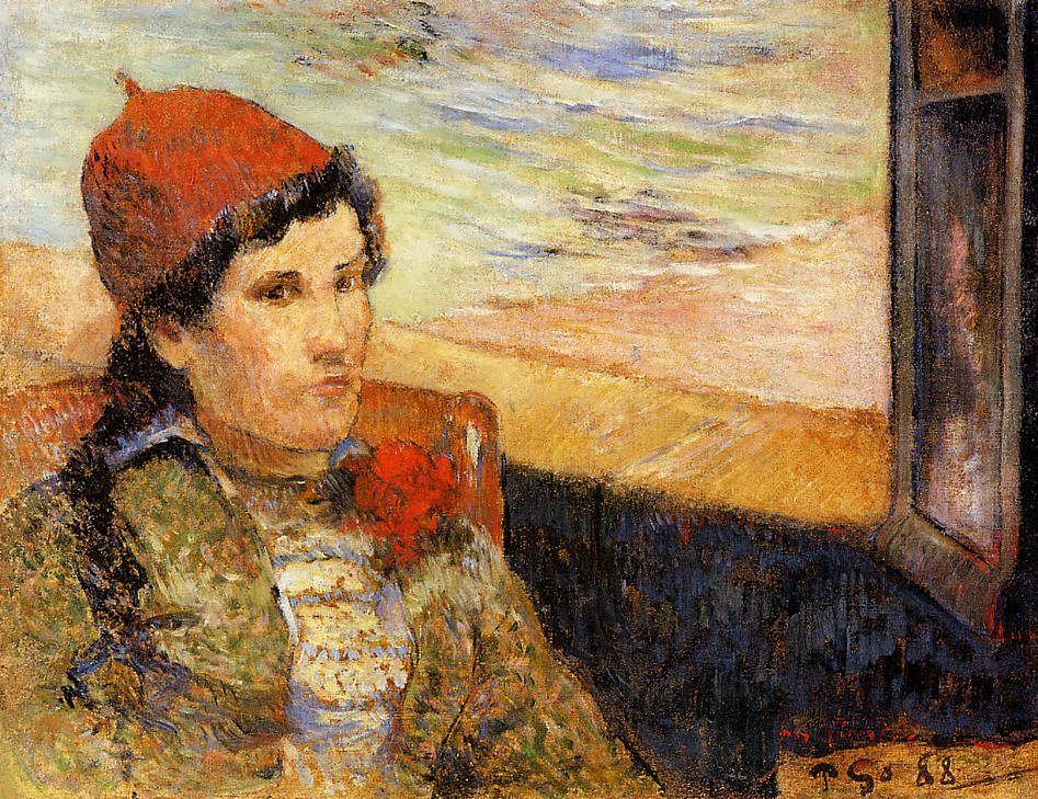 PaulGauguin-YoungWomanataWindow