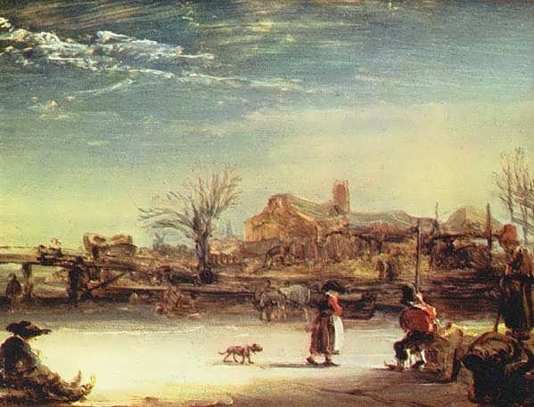 RembrandtWinterlandscape