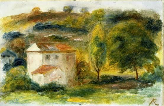 Renior-LandscapewithWhiteHouse
