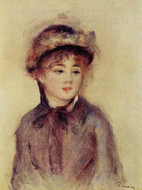 Renoir-BustofaWomanWearingaHat1