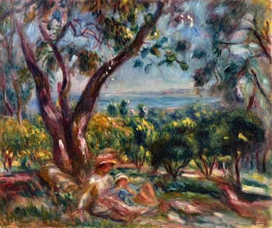 Renoir-CagnesLandscapewithWomanandChild