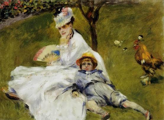 Renoir-CamilleMonetandHerSonJeanintheGardenatArgenteuil