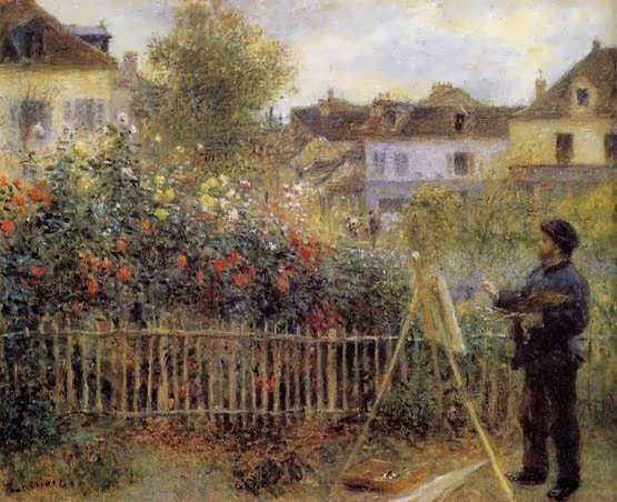 Renoir-ClaudeMonetPaintinginHisGardenatArgenteuil