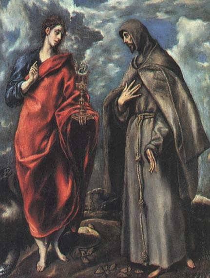 SaintsJohntheEvangelistandFrancis1