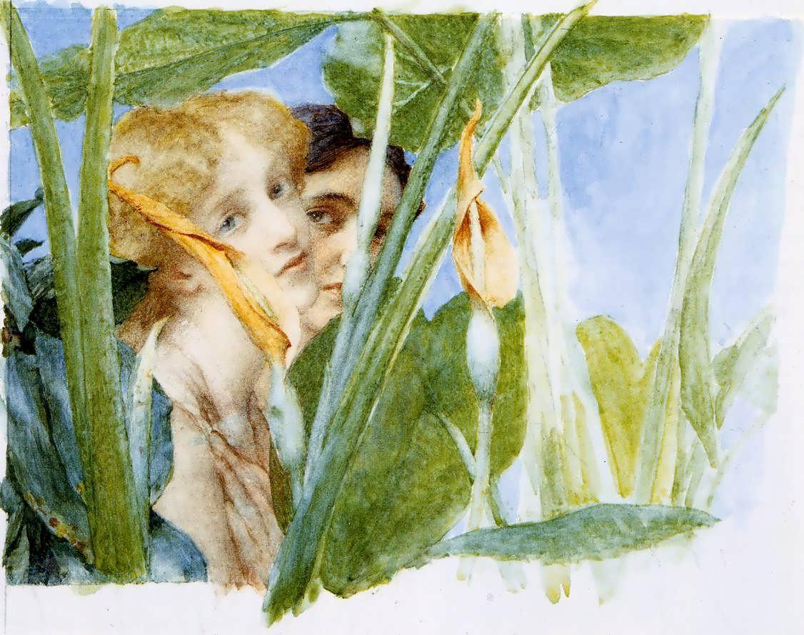 SirLawrenceAlma-Tadema-InBeautysBloomunfinished1