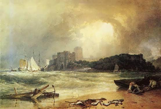 Turner-PembrokeCaseltSouthWales-ThunderStormApproaching