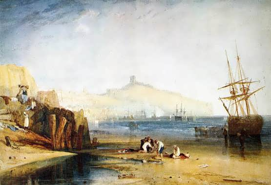 Turner-ScarboroughTownandCastle-Morning-BoysCatchingCrabs