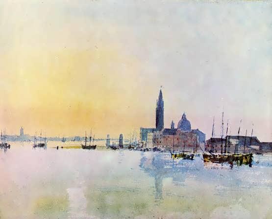 Turner-VeniceSanGuirgiofromtheDogana-Sunrise