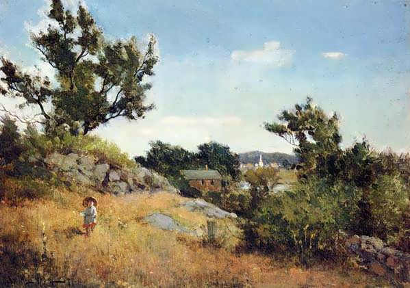 Willard_Leroy_Metcalf_A_View_of_the_Village