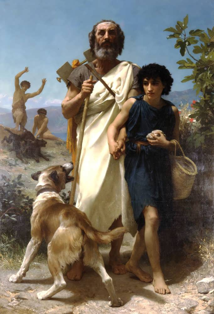 WilliamBouguereau-HomerandHisGuide