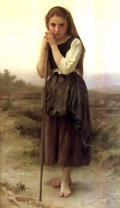 WilliamBouguereau-TheLittleShepherdess1