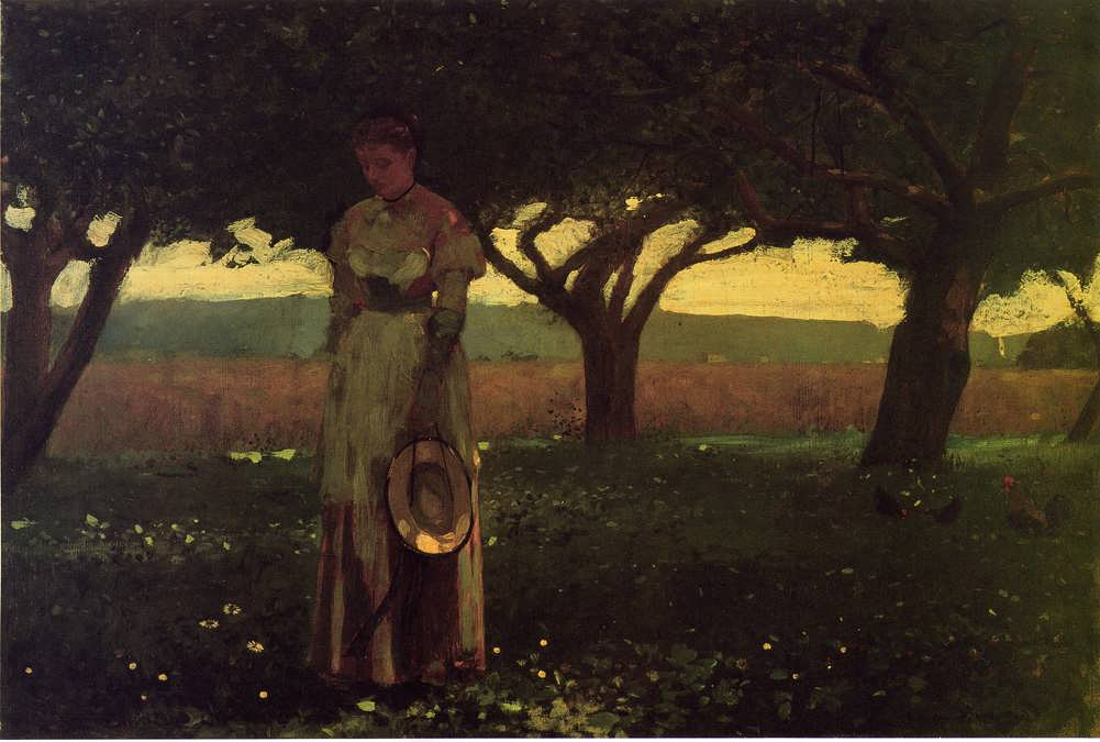 WinslowHomer-GirlintheOrchard1