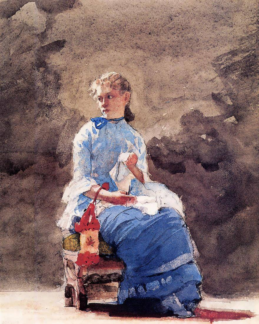 WinslowHomer-WomanSewing1