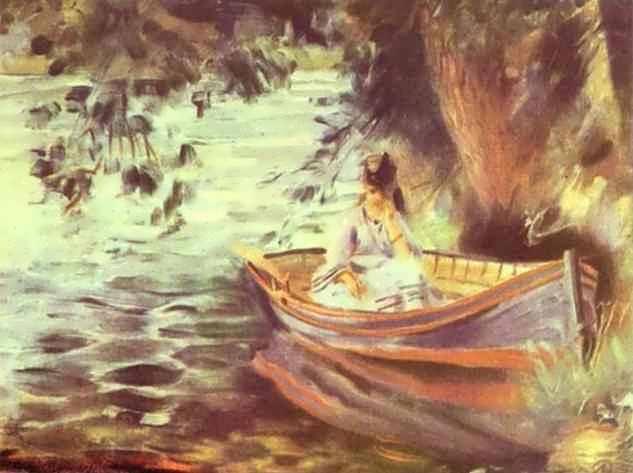 ренуар в лодке