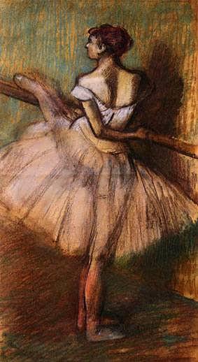 degas-DancerattheBarre1