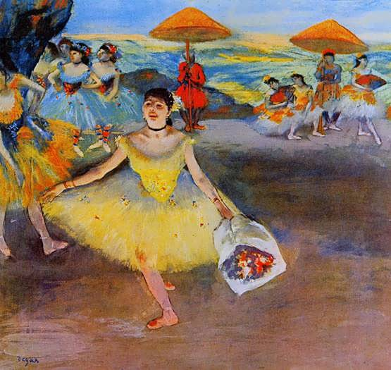 degas-DancerwithaBouquetBowing