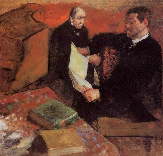 degas-PaganandDegasFather