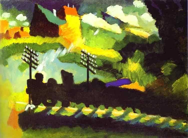 kandinsky-Murnau-ViewwithRailroadandCastle