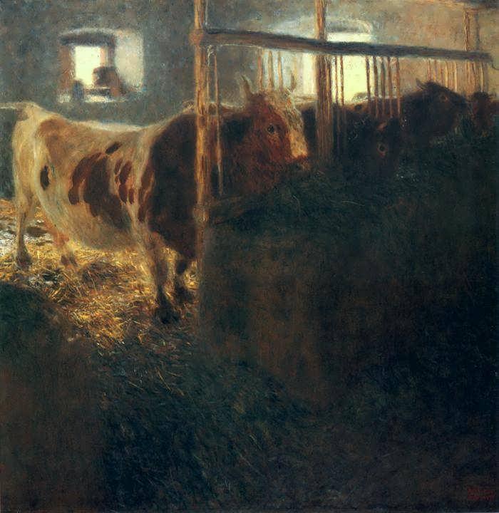 klimt-CowsinaStall